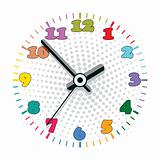 vector colorful clock
