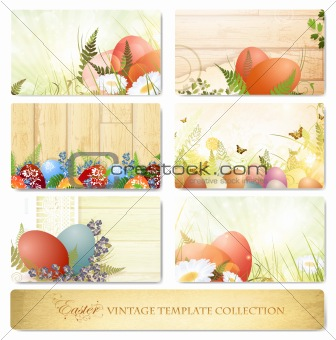 Easter vintage floral template collection