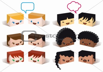 diversity avatars, vector
