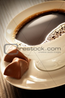 Coffee with pralines