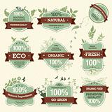 Set of Natural Premium Quality Labels