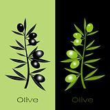 Black and green olives