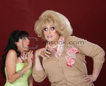 Funny Women Gossiping