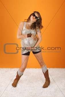 Dancing Beautiful Pregnant Woman