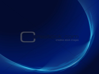 blue smooth waves dark design template frame EPS10