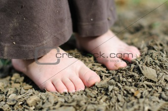 Dirty Child Feet