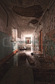 inside an abandoned building