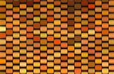 abstract 3d render multiple orange cylinder backdrop pattern