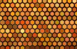 abstract 3d render hexagon backdrop in orange colors