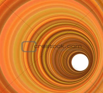 3d render abstract circular background in orange colors