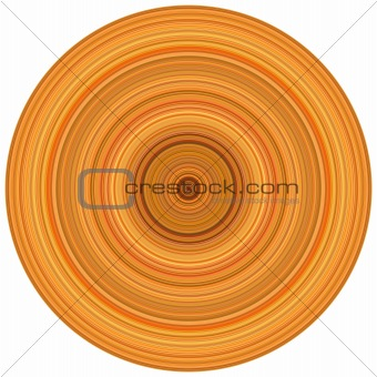 abstract background 3d render concentric pipes in multiple orang