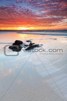 beautiful australian beach at twilight