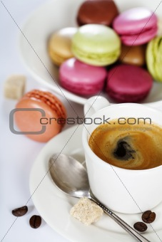Espresso and macaroons