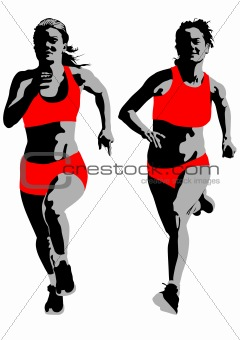 Women running competition