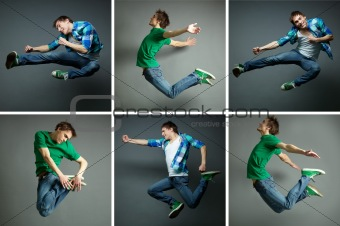 Man in jump
