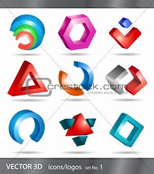 set of icons or logos