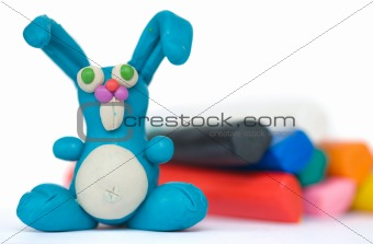 Plasticine rabbit