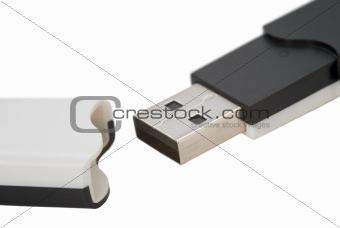 Black-white USB stick
