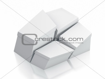 Various white boxes.