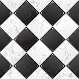 Black And White tile seamless background. EPS 10 vector.