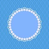 Blue Invitation Card with White Pearls. Vector Illustration