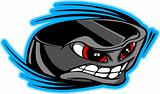 Ice Hockey Puck Face Cartoon Vector Image