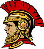 Spartan Trojan with Helmet Mascot Vector Image