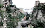 Monaco - view from railroad station to port Hercule