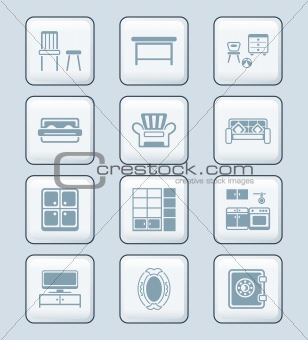 Home furniture icons | TECH series