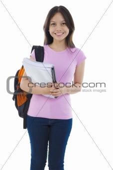 Mixed race Asian student