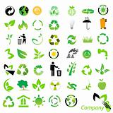 Vector set of environmental / recycling icons and logos