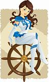 Sexy pin up sailor girl
