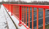 red handrail