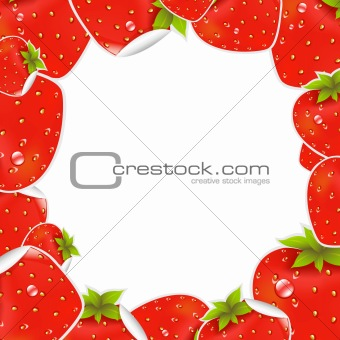 Label Strawberry Frame