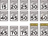 U.S. Highway Speed Limit Signs