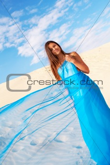 Woman in chiffon