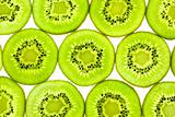 Slises of Fresh Kiwi / close-up background