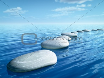 step stones