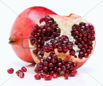 One and half of pomegranate