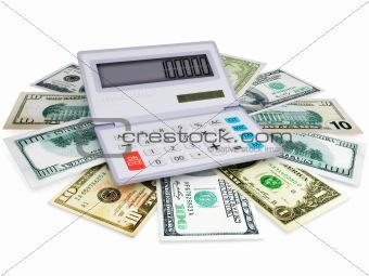 electronic calculator and cashes