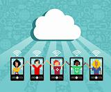 Cloud computing cell phone concept