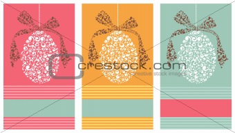 Tribal Easter eggs background set