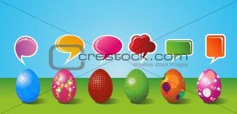 Social media painted Easter egg set