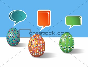Social media decorative Easter eggs