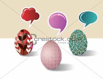 Social media Easter egg set