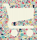 Social media shopping cart texture