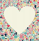 Social media love heart texture