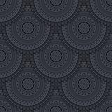 Seamless background with circles in retro style