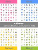 Set of 49 web icons