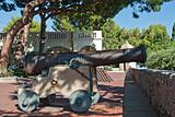 Medieval cannon in old city Monaco